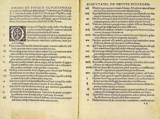 Cele 95 de teze ale lui Martin Luther | Biserica Protestantă Evanghelică